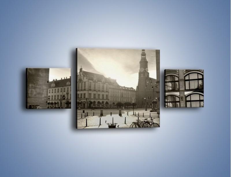 Obraz na płótnie – Rynek Starego Miasta – trzyczęściowy AM136W4