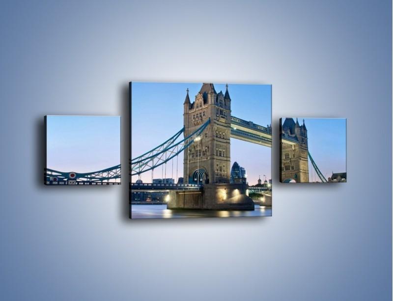 Obraz na płótnie – Tower Bridge o poranku – trzyczęściowy AM143W4
