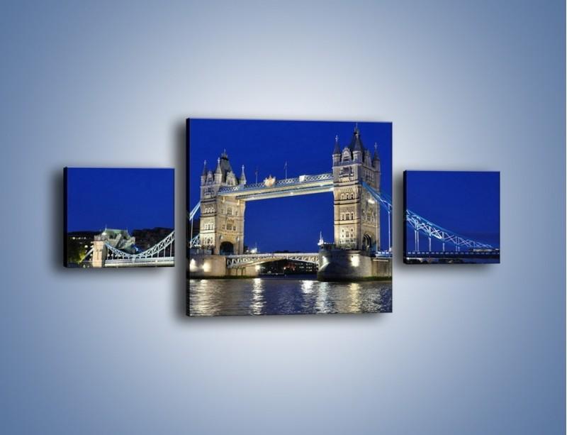 Obraz na płótnie – Tower Bridge nocą – trzyczęściowy AM145W4