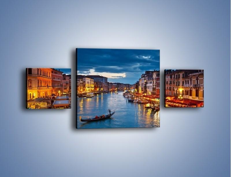 Obraz na płótnie – Wenecja romantyczną porą – trzyczęściowy AM163W4