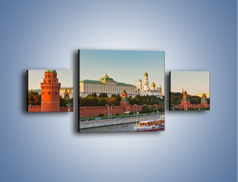 Obraz na płótnie – Kreml w środku lata – trzyczęściowy AM164W4