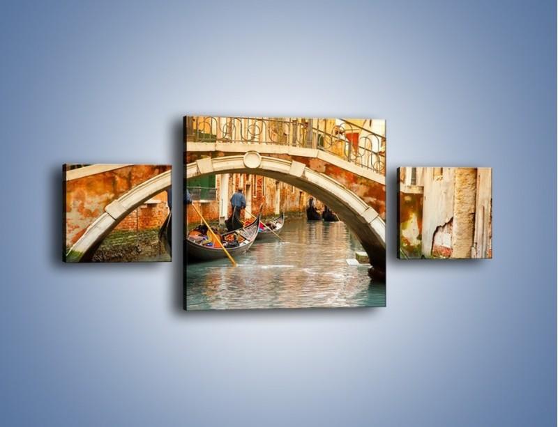 Obraz na płótnie – Weneckie gondole – trzyczęściowy AM172W4
