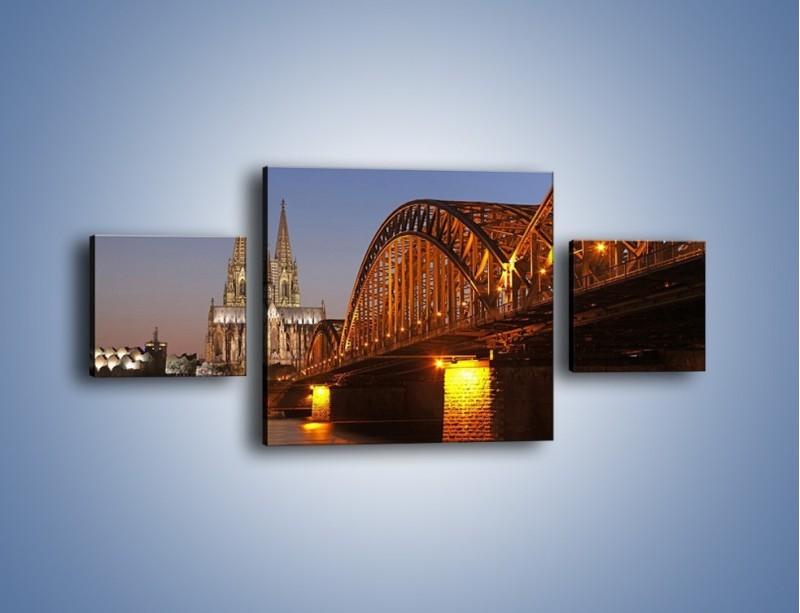 Obraz na płótnie – Most na tle kościoła – trzyczęściowy AM186W4