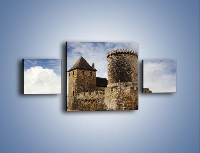Obraz na płótnie – Średniowieczna fortyfikacja – trzyczęściowy AM201W4