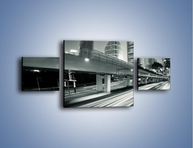 Obraz na płótnie – Miasto w odcieniach szarości – trzyczęściowy AM205W4