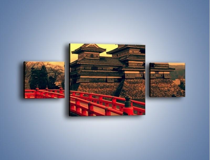 Obraz na płótnie – Japońska architektura – trzyczęściowy AM235W4