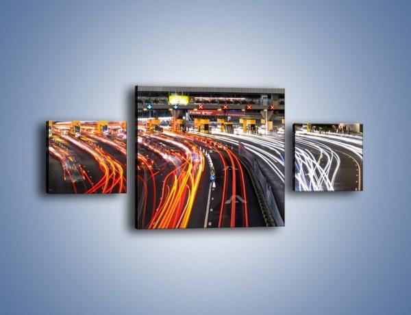 Obraz na płótnie – Autostradowa bramka w ruchu świateł – trzyczęściowy AM236W4