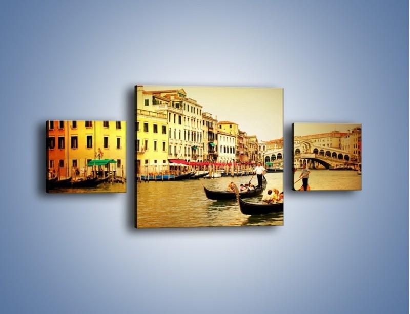 Obraz na płótnie – Wenecki rejs gondolą – trzyczęściowy AM240W4