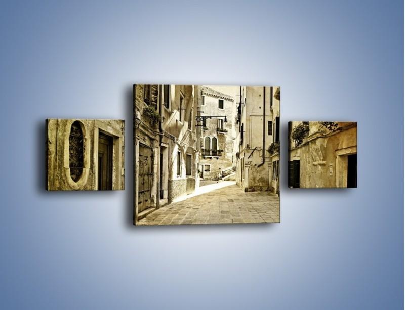 Obraz na płótnie – Stara uliczka w stylu vintage – trzyczęściowy AM243W4