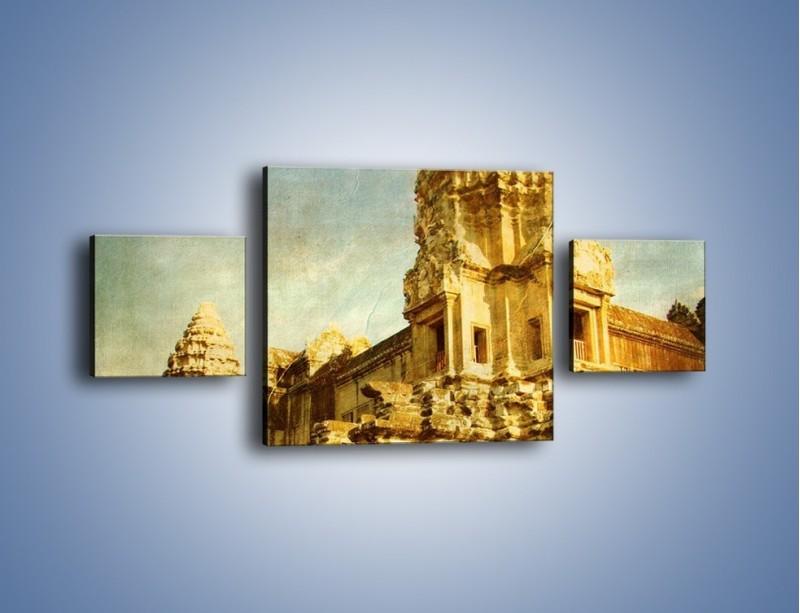 Obraz na płótnie – Starożytna architektura w stylu vintage – trzyczęściowy AM246W4