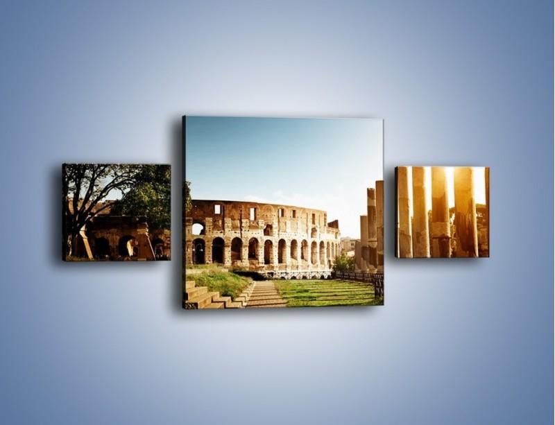 Obraz na płótnie – Koloseum w świetle słońca – trzyczęściowy AM269W4