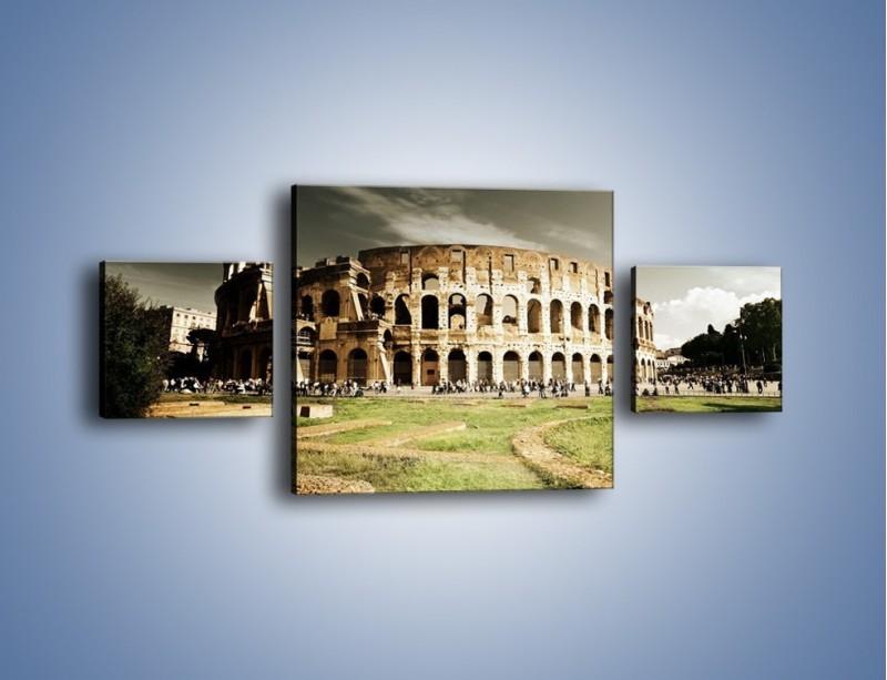 Obraz na płótnie – Koloseum przed burzą – trzyczęściowy AM271W4