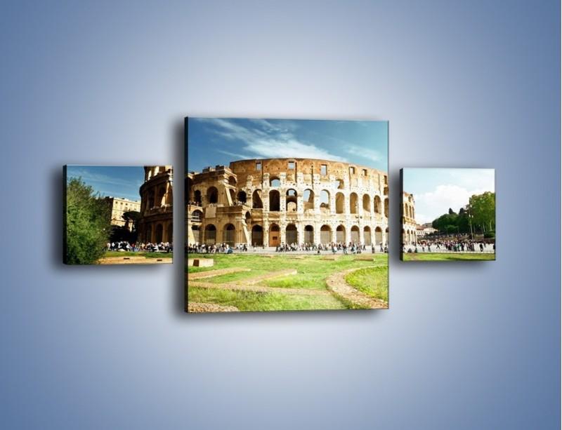 Obraz na płótnie – Koloseum w piękny dzień – trzyczęściowy AM273W4