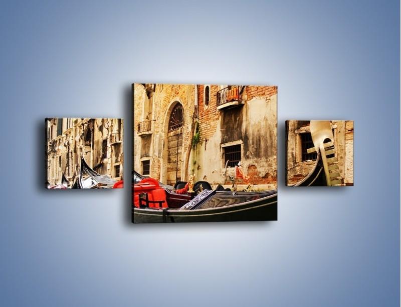 Obraz na płótnie – Wenecka gondola – trzyczęściowy AM286W4
