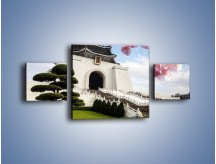Obraz na płótnie – Azjatycka architektura – trzyczęściowy AM299W4