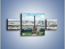 Obraz na płótnie – Chmury nad Wieżą Eiffla – trzyczęściowy AM302W4