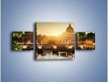 Obraz na płótnie – Bazylika w Rzymie o zachodzie słońca – trzyczęściowy AM306W4
