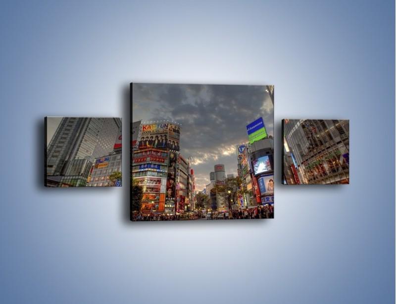 Obraz na płótnie – Uliczny tłok w Tokyo – trzyczęściowy AM312W4