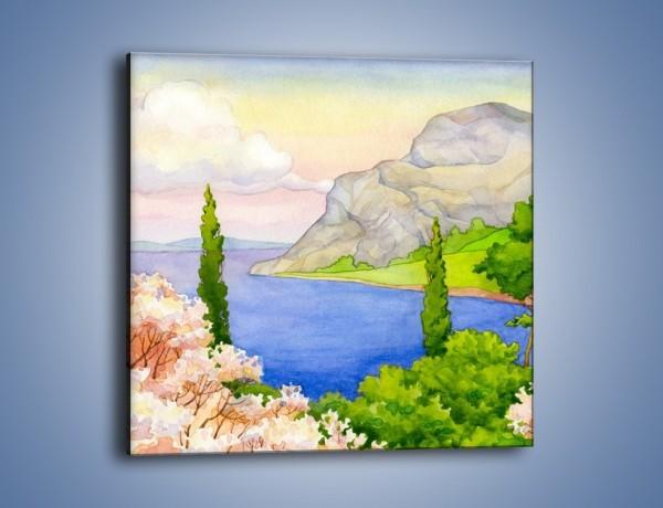 Obraz na płótnie – Krajobraz jak z pocztówki – jednoczęściowy kwadratowy GR541