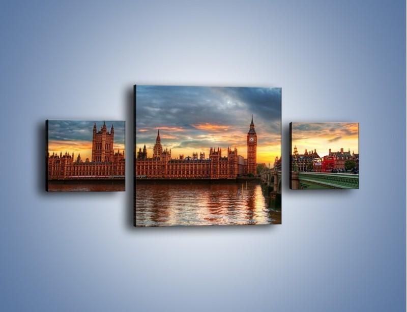 Obraz na płótnie – Pałac Westmnisterski i Big Ben – trzyczęściowy AM321W4
