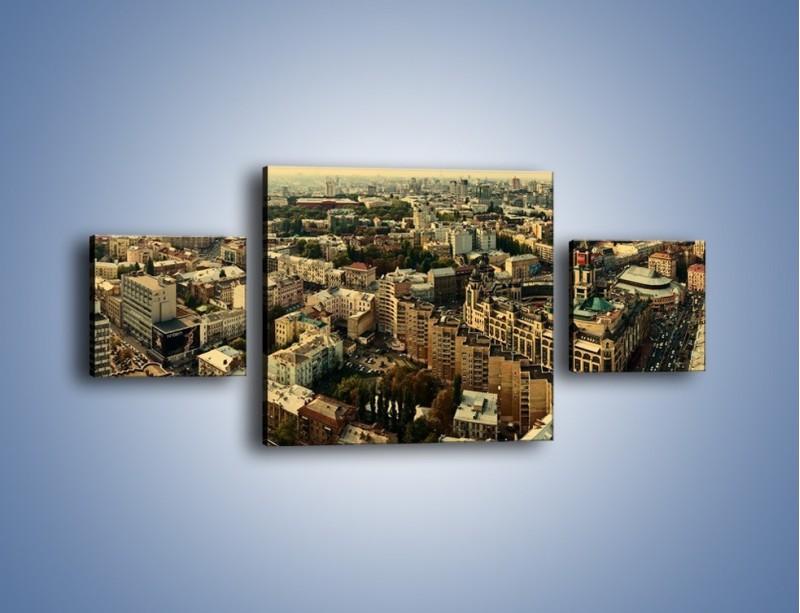 Obraz na płótnie – Panorama Kijowa – trzyczęściowy AM326W4