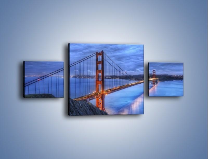 Obraz na płótnie – Most Golden Gate – trzyczęściowy AM328W4