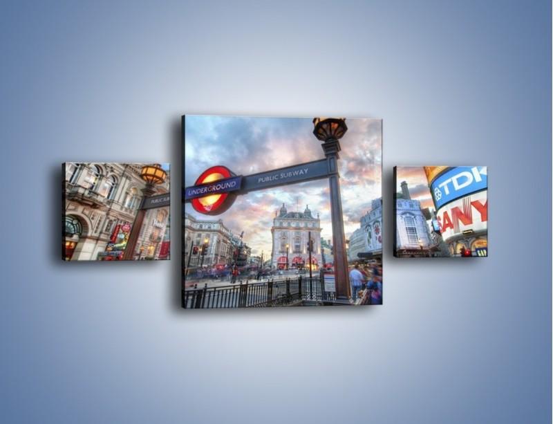 Obraz na płótnie – Wejście do londyńskiego metro – trzyczęściowy AM334W4