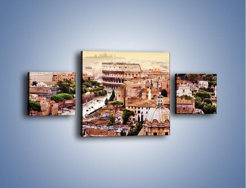 Obraz na płótnie – Panorama Rzymu – trzyczęściowy AM338W4