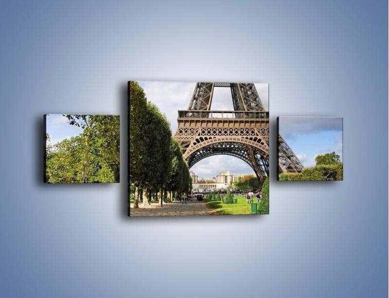 Obraz na płótnie – Wieża Eiffla – trzyczęściowy AM340W4