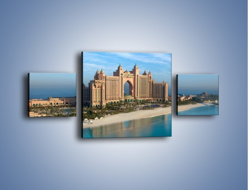 Obraz na płótnie – Atlantis Hotel w Dubaju – trzyczęściowy AM341W4