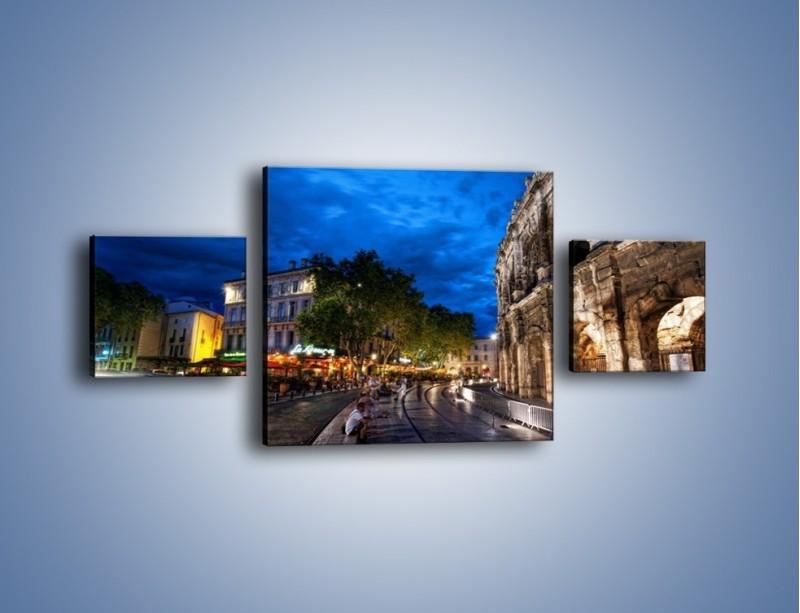 Obraz na płótnie – Nocne życie w Rzymie – trzyczęściowy AM344W4