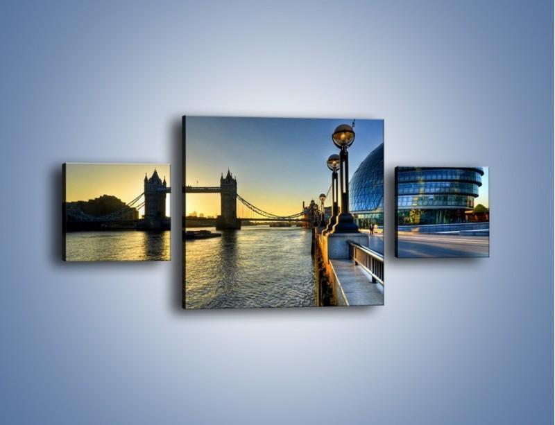 Obraz na płótnie – Londyński Tower Bridge – trzyczęściowy AM348W4