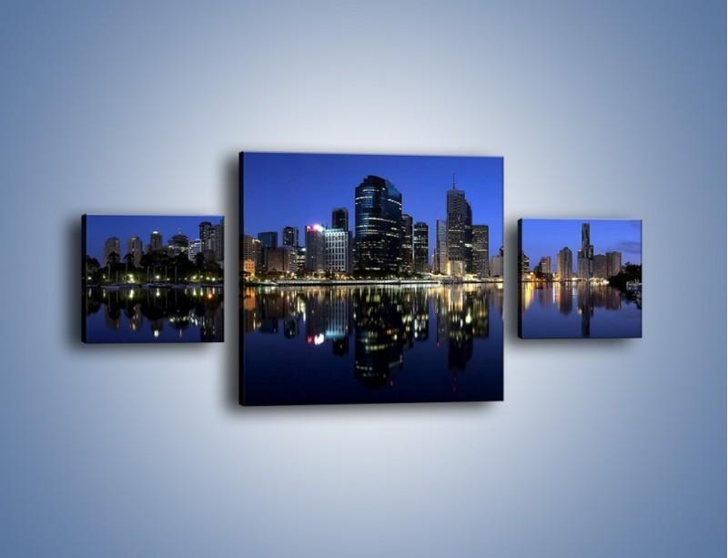 Obraz na płótnie – Brisbane w Australii nocą – trzyczęściowy AM354W4