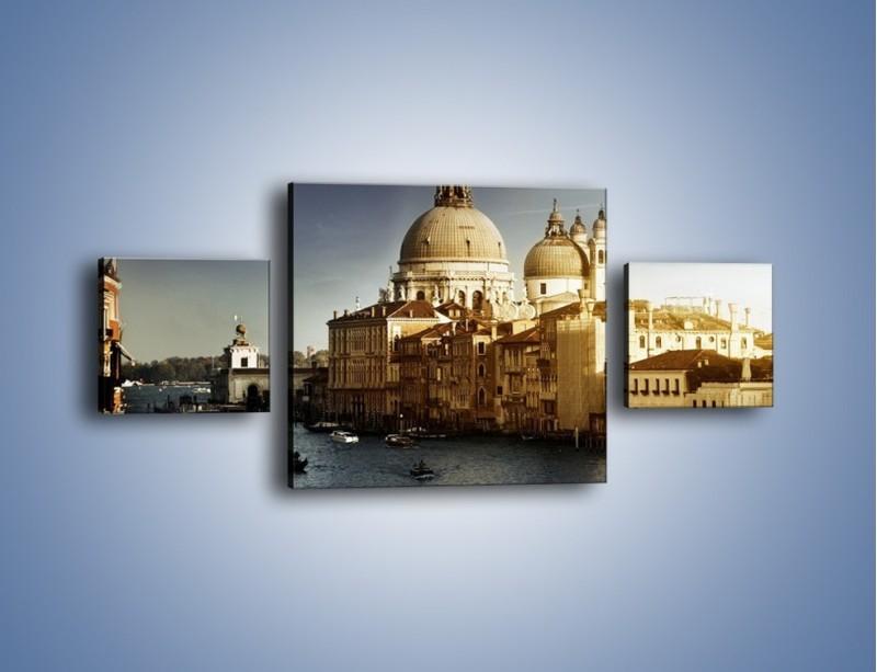 Obraz na płótnie – Zapadający zmrok na Wenecją – trzyczęściowy AM356W4