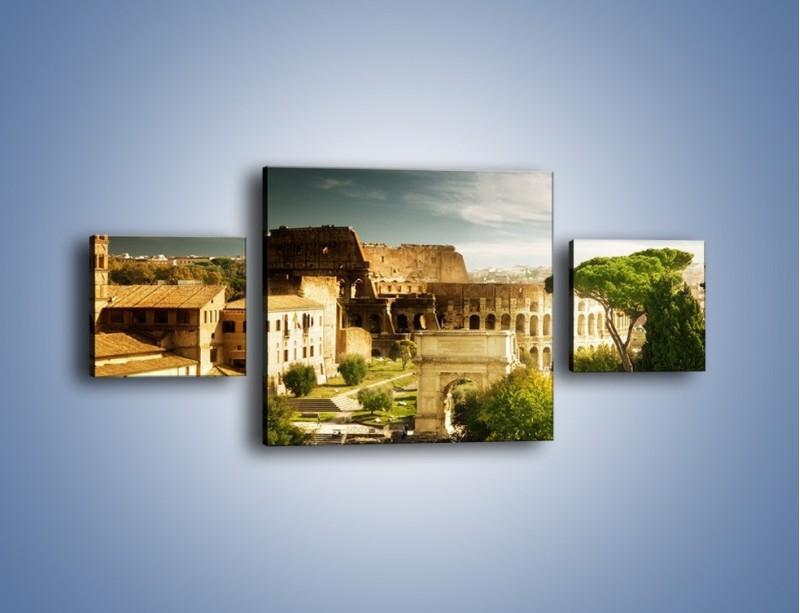 Obraz na płótnie – Ruiny starożytnego Rzymu – trzyczęściowy AM357W4