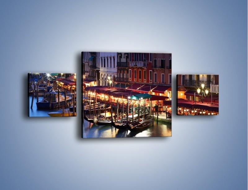Obraz na płótnie – Wieczorowe życie w Wenecji – trzyczęściowy AM358W4