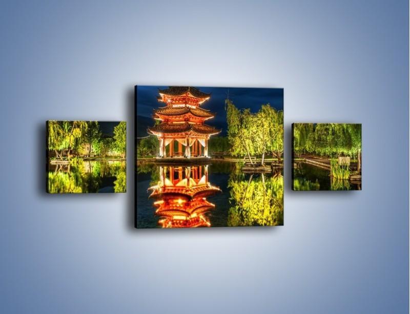 Obraz na płótnie – Urokliwy park w Chinach – trzyczęściowy AM365W4