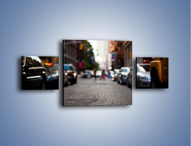 Obraz na płótnie – Rozmyty świat centrum miasta – trzyczęściowy AM367W4