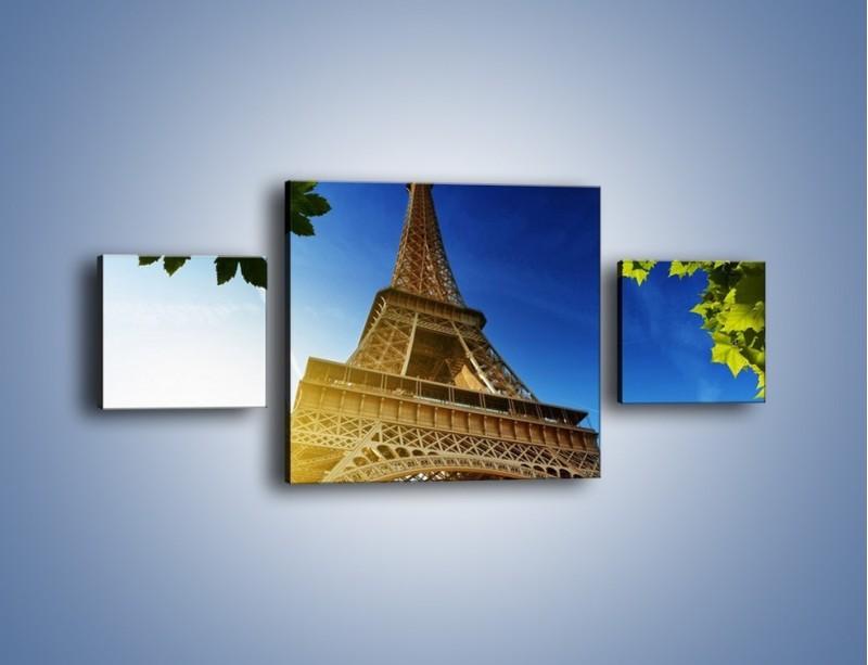 Obraz na płótnie – Wieża Eiffla w pełnej krasie – trzyczęściowy AM372W4