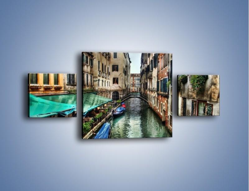 Obraz na płótnie – Wenecka uliczka w kolorach HDR – trzyczęściowy AM374W4