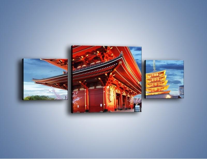 Obraz na płótnie – Świątynia Senso-ji w Tokyo – trzyczęściowy AM378W4