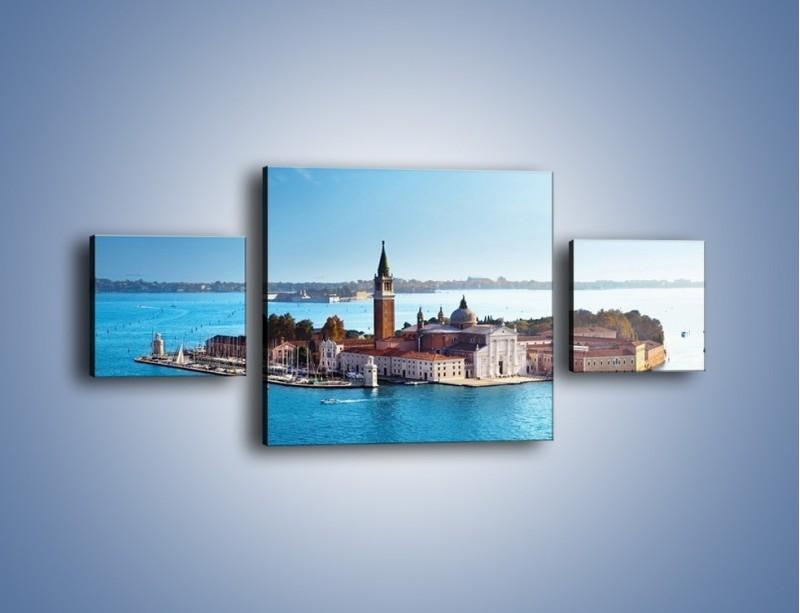 Obraz na płótnie – Wyspa San Giorgio Maggiore – trzyczęściowy AM380W4