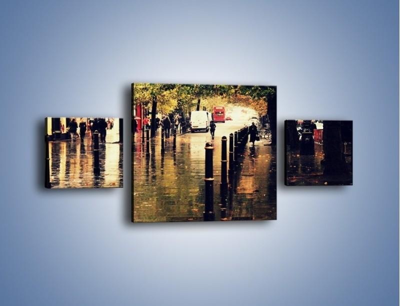 Obraz na płótnie – Deszczowa jesień w Moskwie – trzyczęściowy AM383W4