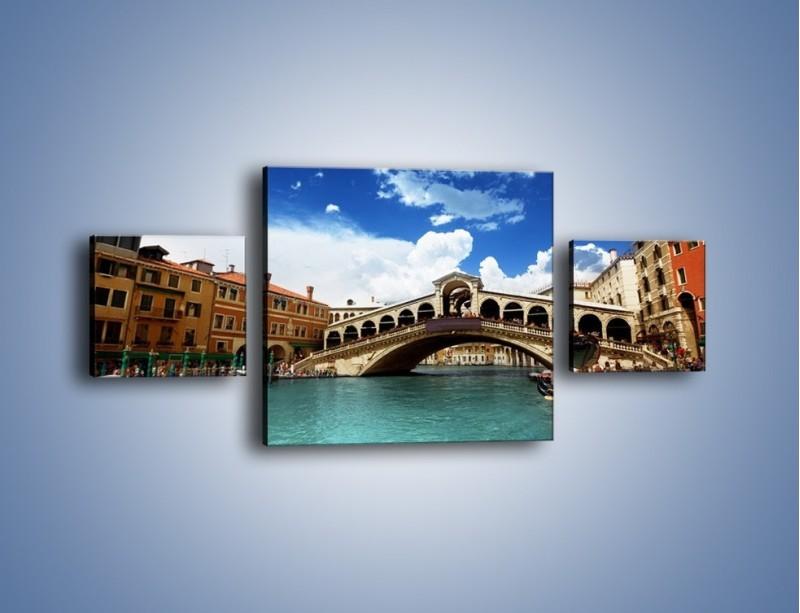 Obraz na płótnie – Most Rialto w Wenecji – trzyczęściowy AM386W4