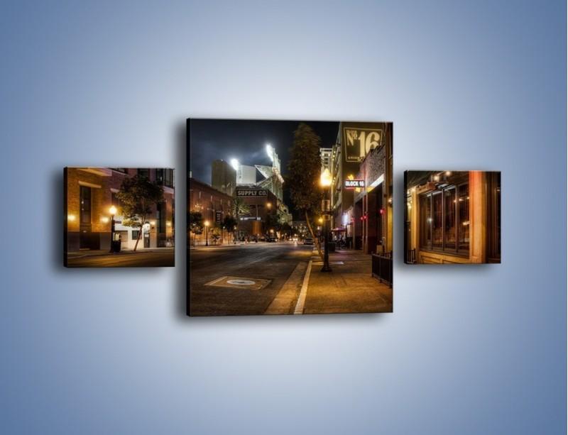 Obraz na płótnie – Ulica San Diego w Kaliforni – trzyczęściowy AM390W4