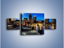 Obraz na płótnie – Boston wieczorową porą – trzyczęściowy AM393W4