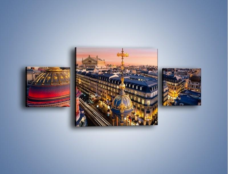 Obraz na płótnie – Paryska architektura – trzyczęściowy AM402W4