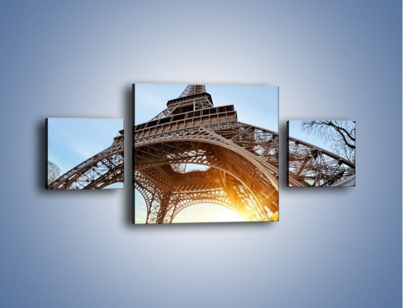 Obraz na płótnie – Wieża Eiffla w słońcu – trzyczęściowy AM403W4