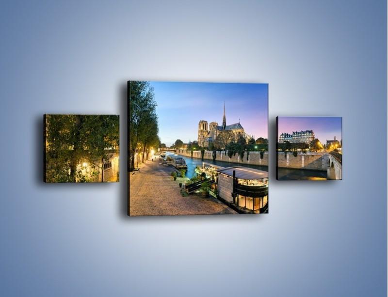 Obraz na płótnie – Katedra Notre Dame – trzyczęściowy AM405W4