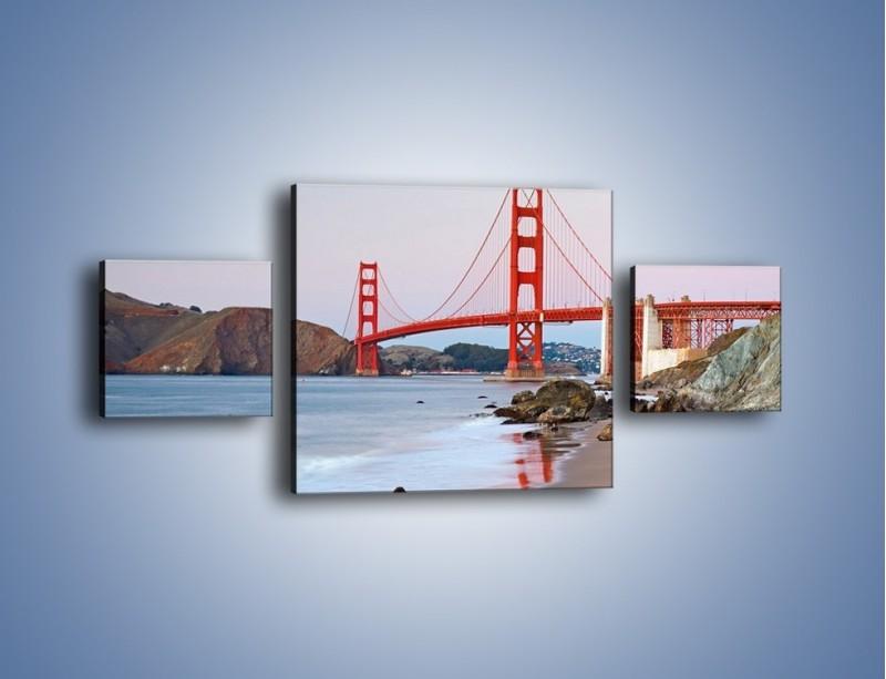 Obraz na płótnie – Most Golden Gate – trzyczęściowy AM406W4